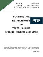 Planting and Establishment of Trees Shrubs p905