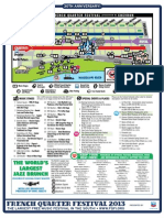 French Quarter Festival 2013 Map