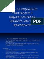 Analiza Dignostic Strategica a Organizatiei in Mediul Sau de Referinta