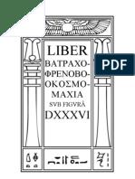 Liber 536 - Batrachophrenoboocosmomachia