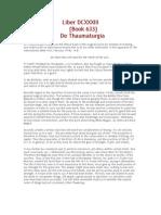 Liber 633 - De Thaumaturgia