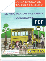 ENSEÑSANZA BASICA DE TRANSITO PARA LA NIÑEZ