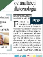 Inchiesta Sui Nuovi Analfabeti - La Repubblica 29.03.2013