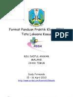 Format Panduan Praktik Klinis Tatalaksana Kasus RS Saiful Anwar Malang Jawa Timur