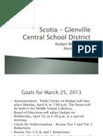 Scotia-glenville Budget Presentation