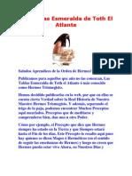 Las Tablas Esmeraldinas de Thot El ATLANTE