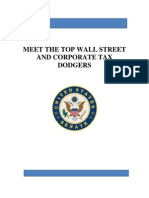 MEET THE TOP WALL STREET AND CORPORATE TAX DODGERS