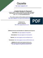 Dahlgren(2003) Information Society