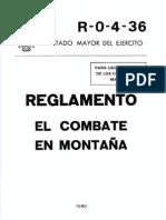 R-0-4-36 EL COMBATE EN MONTAÑA