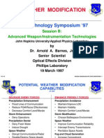 Weather Modification Test Technology Symposium 1997 USAF Dr Arnold a Barnes Jr
