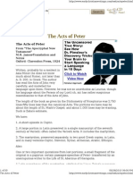 Apocryphal Acts of Peter