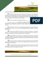 Carlos de la Rosa Vidal - Declaración de Valores Personales