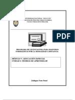Modulo v. EDUC. ESP. UNIDAD I Teorias de Aprendizaje