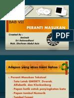 PTIK-04_Bab VII Peranti Interaksi