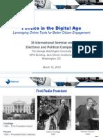 Politics in the Digital Age David Almacy