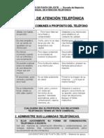 MANUAL DE ATENCIÓN TELEFÓNICA