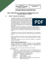 ESPECIFICACIONES TECNICAS -ARQUITECTURA