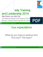 Future-Ready Training and Leadership with Wali 2014