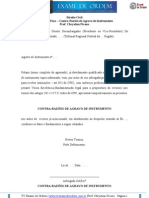 CONTRA RAZÕES DE AGRAVO DE INSTRUMENTO