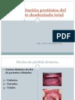 Rehabilitación protésica del paciente desdentado total
