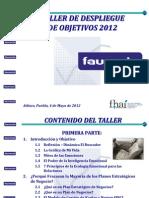 Despliegue de Objetivos Presentación Faurecia 04.05.12