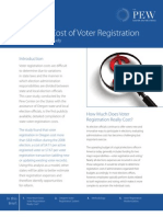 The Real Cost of Voter Registration