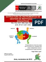Matrices_instrumentos de Gestion Ugel Anta 2013