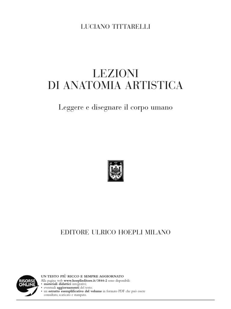 Manuale Di Anatomia Artistica, Luciano Tittarelli, Pdf - imaginelasopa