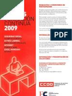 Cursos Formación Continua 2009