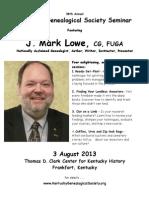 Kentucky Genealogical Society 2013 Seminar