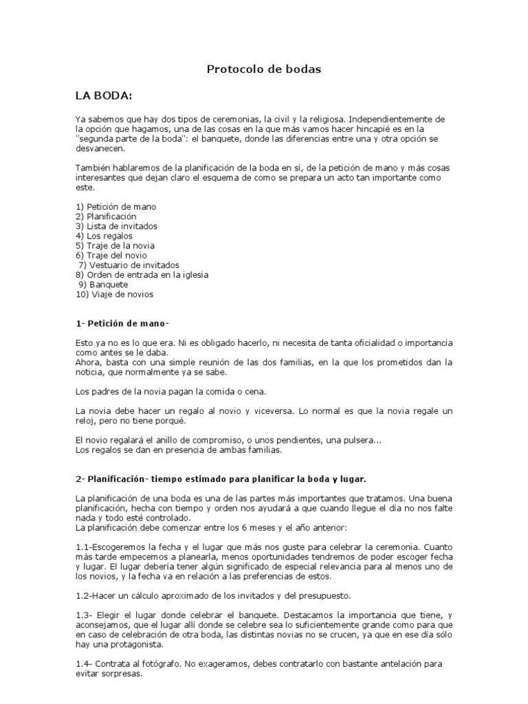 Protocolo De Bodas Doc Boda Traje Ropa