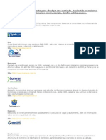 Sites de Recrutamento Nacional e Internacional