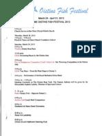 Oistins Fish Festival Schedule 2013