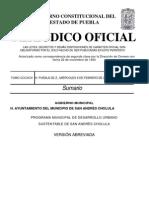 Programa Municipal de Desarrollo Urbano Sustentable de San Andres Cholula