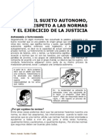 El Sujeto Autonomo y Las Normas