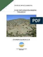 DIA Exploracion Minera DALMACIA