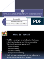 TIVET as an Alternative Pathway to University Education