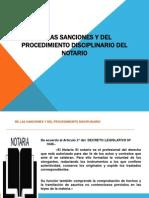 De Las Sanciones y Del Procedimiento