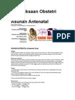 Pemeriksaan Obstetri Dan Asuhan Antenatal