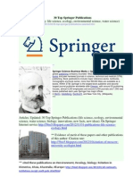 _ 30 Top Springer Publications, Ecology, Environment, Water. Links to Full Texts, Comments. http://ru.scribd.com/doc/133092502