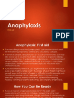 First Aid - Anaphylaxis