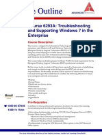 Course 6293A Troubleshooting and Supporting Windows 7 in the Enterprise