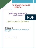 Unidad 3 Metodos de Conseracion(Trabajo) Ciencias de Alimentos
