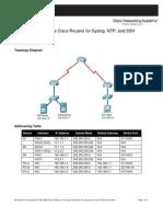 CCNAS Chp2 PTActA Syslog-SSH-NTP Instructor