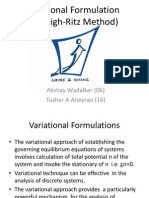 Varaiational Formulation Fem