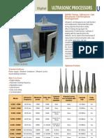 UltraSonic Processors - Catalog