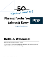 Phrasal Verbs in English by English Tonight