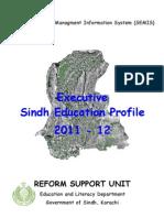 Executive Sindh Education Profile 2011-12