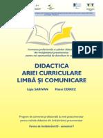 Didactica Ariei Curriculare Limba Si Comunicare