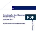 Graham, Principles for Good Governance